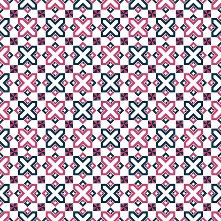 Seamless vintage geometric tile pattern background