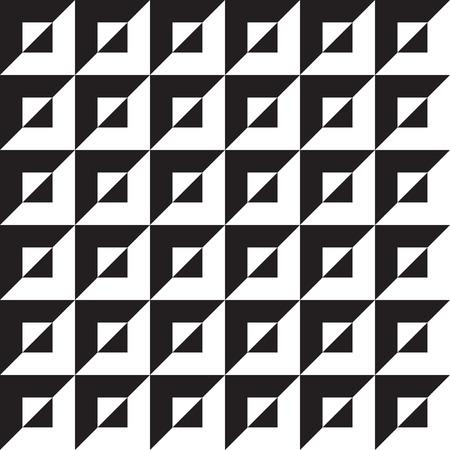 Fondo de patrón de arte op geométrico abstracto inconsútil Ilustración de vector