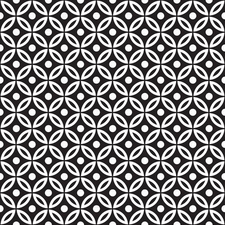Seamless geometric circle pattern background. Vector pattern.
