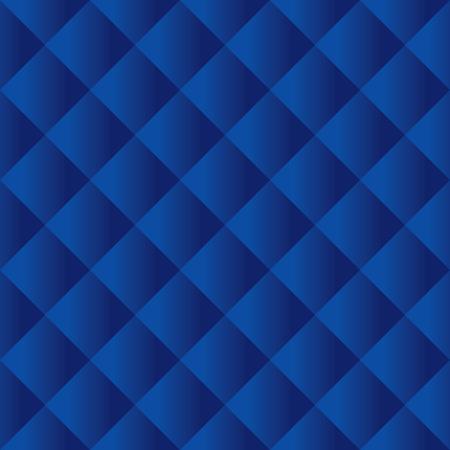 Seamless dark blue padded upholstery pattern background texture Stock Illustratie