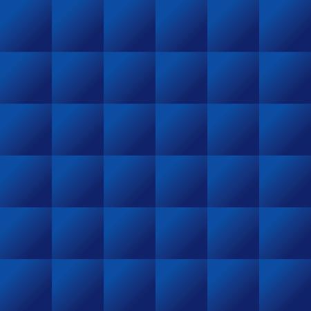 Seamless dark blue padded upholstery pattern background texture Vettoriali