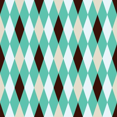 Seamless argyle harlequin pattern background Vector Illustration