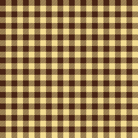 Seamless Vintage Brown and Black Gingham Check Plaid Fabric Pattern Texture