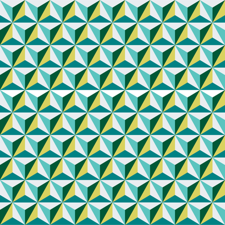 Seamless abstract geometric triangular facet surface pattern
