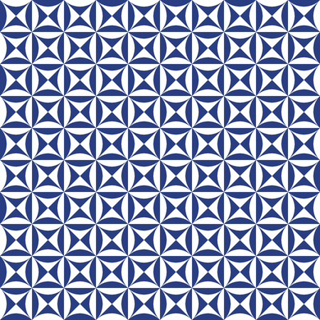 Seamless abstract geometric vintage tile pattern background