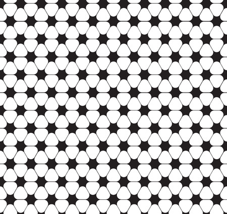 Seamless curved star flower pattern Illustration