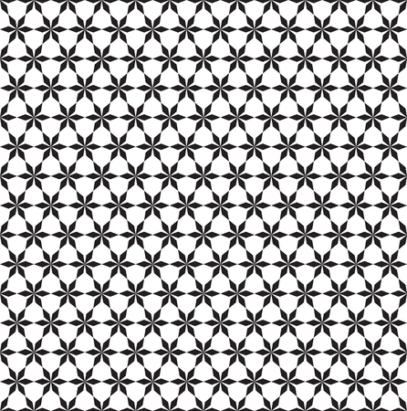 Seamless abstract geometric star pattern