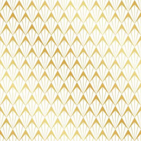 Seamless gold Art Deco pattern.