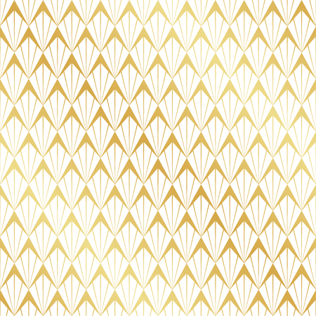 Seamless gold Art Deco pattern.
