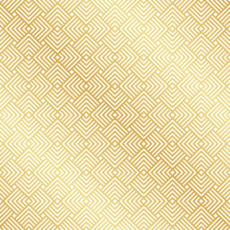 Abstract Seamless Gold Art Deco Vector Pattern Ilustração