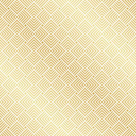 Abstract Seamless Gold Art Deco Vector Pattern Иллюстрация