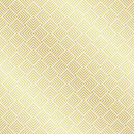 Abstract Seamless Gold Art Deco Vector Pattern Illustration