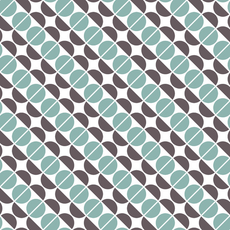 Seamless abstract geometric round curve intersect check pattern background.