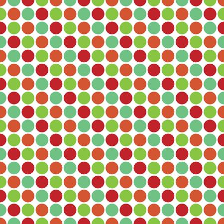 Seamless Christmas wrapping paper pattern. Festive Christmas dot pattern.