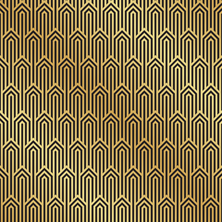 Seamless Black And Gold Art Deco Pattern Background Art Deco