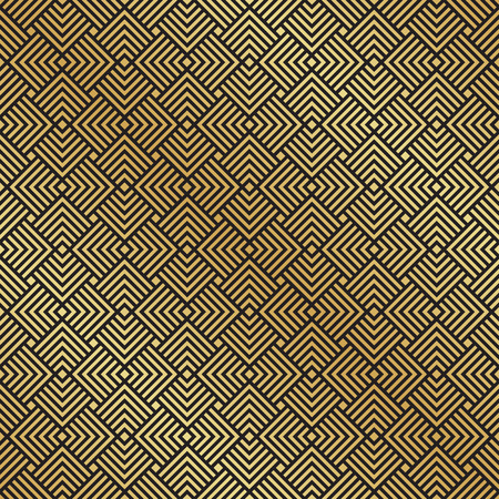 Seamless black and gold Art Deco pattern background