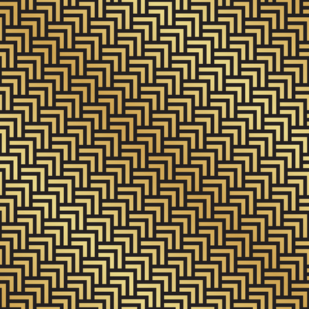 Seamless black and gold Art Deco herringbone pattern. Abstract geometric vector pattern background.