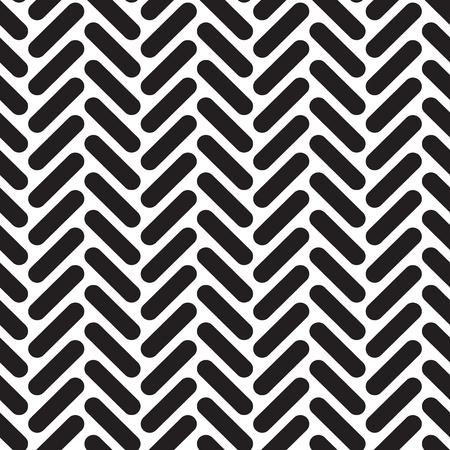 Seamless geometric rounded herringbone network pattern texture background.