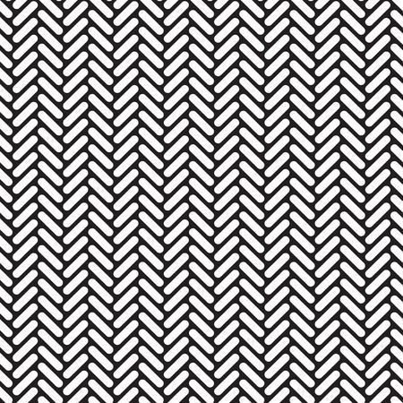 Fond de texture de modèle de réseau de chevrons arrondis géométriques sans soudure.