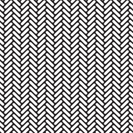 Seamless geometric rounded herringbone network pattern texture background.