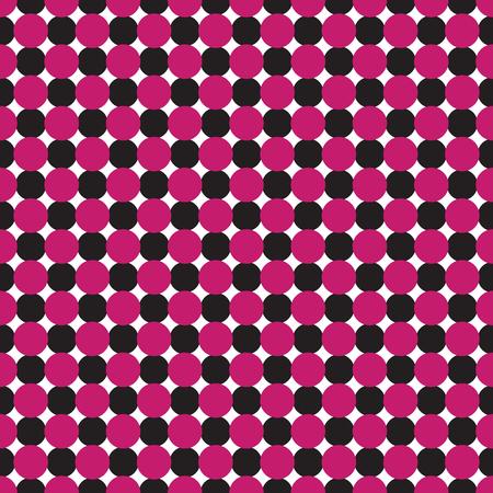 Seamless geometric dot pattern background. Fuchsia pink, black and white pattern. Çizim