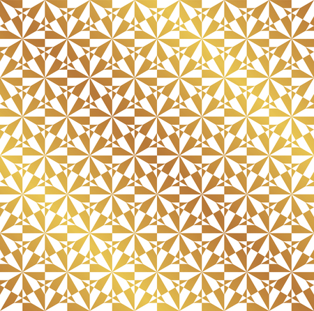 Seamless Christmas golden geometric wrapping paper pattern. Christmas pattern background.