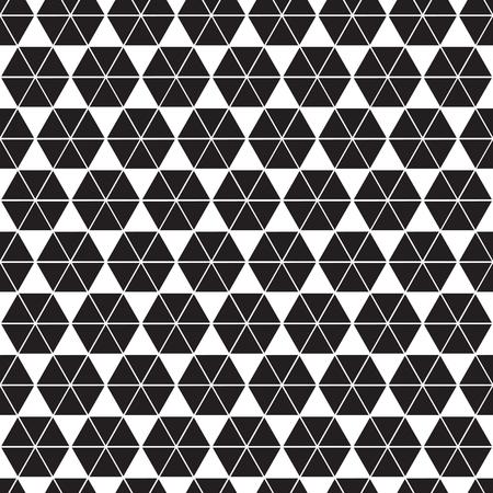Motif de facettes de forme hexagonale de triangle géométrique abstrait sans soudure. Fond de texture triangulaire. Vecteurs