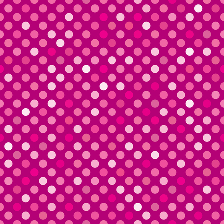 Seamless pink dot pattern background Ilustrace