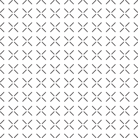 Seamless geometric techno cross pattern background