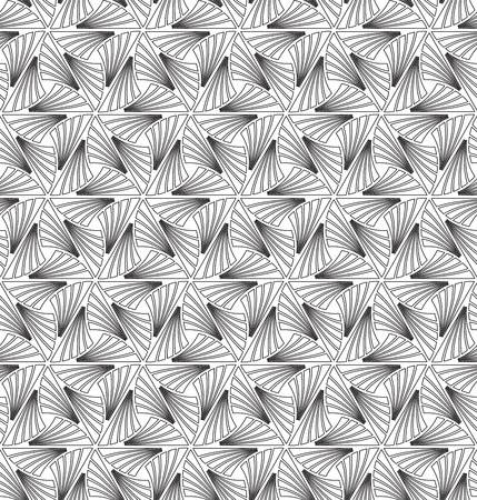 Seamless Art Deco feather outline pattern