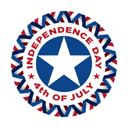 Fourth of July vintage label commemorating United States Independence in 1776.