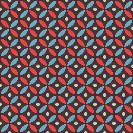Seamless intersecting geometric vintage circle pattern