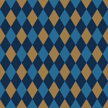 Arrière-plan transparent arlequin en or et bleu.