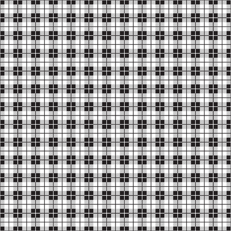 Seamless simple tartan plaid check pattern in black and white