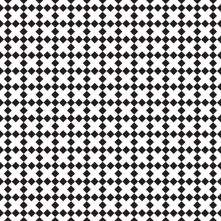 Seamless geometric checkerboard cross pattern background