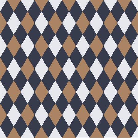 Seamless vintage harlequin pattern background wallpaper.
