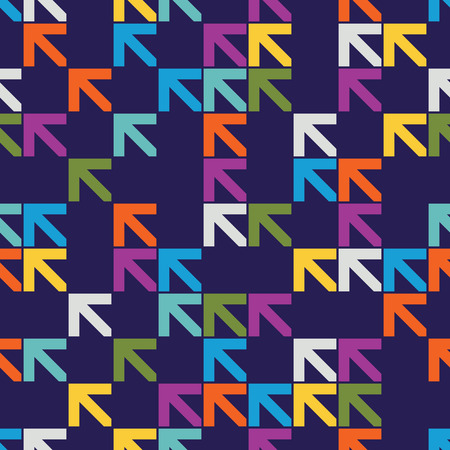 Seamless colourful arrow pattern background