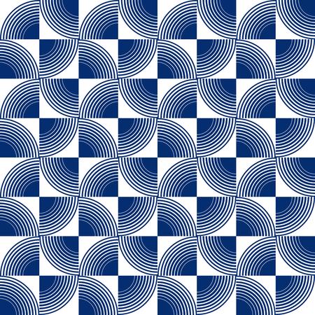 Seamless radiating concentric circle pattern