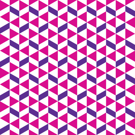 Seamless geometric triangle and rhombus alternating pattern Ilustração