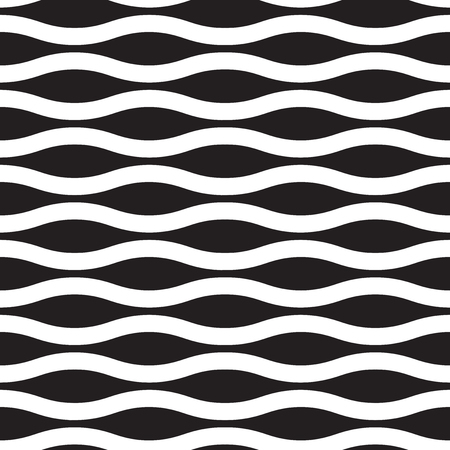 Seamless abstract vector wave pattern background Ilustração