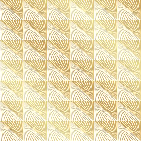 Abstract Seamless Gold Art Deco Vector Pattern Texture Background
