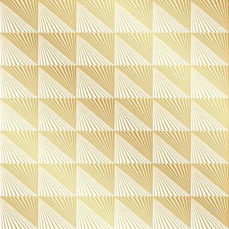 Fondo senza cuciture astratto di struttura del modello di vettore di Art Deco dell'oro