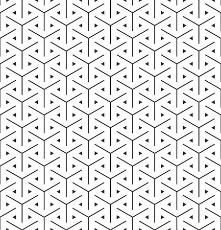Seamless abstract intersecting hexagon weave mesh pattern