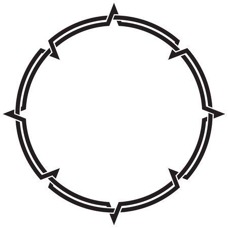 Celtic Knotwork Round Decorative Ornamental Border Frame Illustration