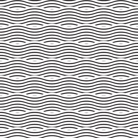 Seamless ocean wave pattern texture background Illustration