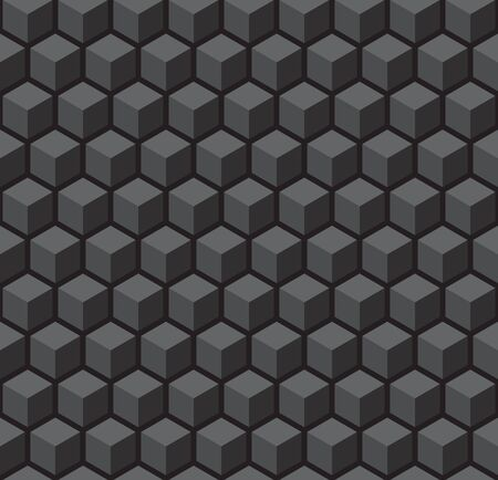 Seamless 3d vector geometric cube pattern