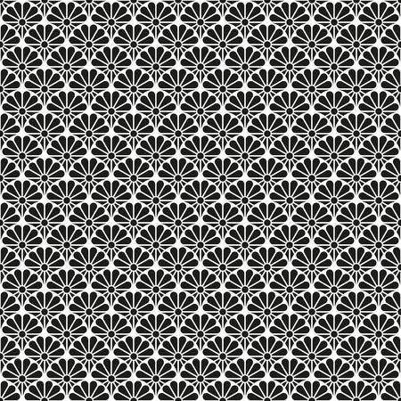 Seamless Art Deco decorative scallop pattern background