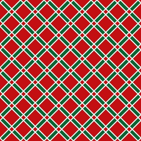 Seamless Christmas check wrapping paper pattern 일러스트