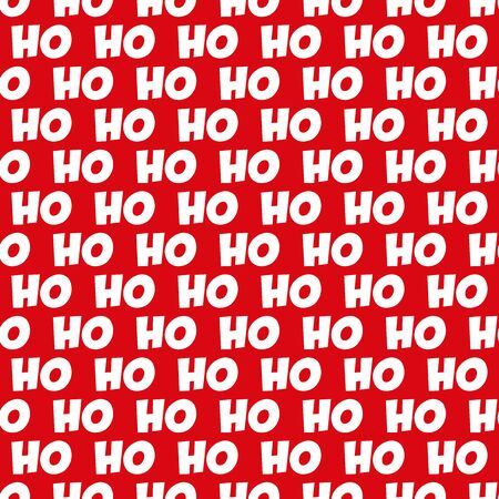 Seamless Christmas Ho Ho Ho Pattern. Ideal for Christmas gift wrapping paper.