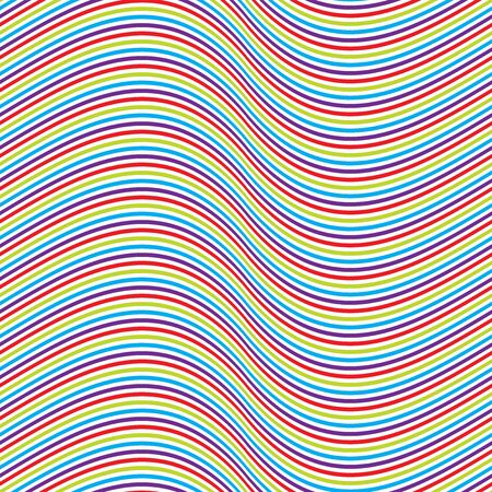 Seamless colourful pinstripe wave pattern background